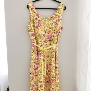 NWT Talbots Yellow Summer Dress Sz.20